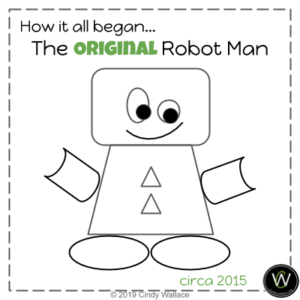 The Original Robot Man Created by Cindy Wallace in 2015